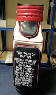 Golf Tom Watsons Golf Cart bag made specially for the