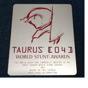 Rare Stuntmans Belt and Plaque for the 2004 World Stunt