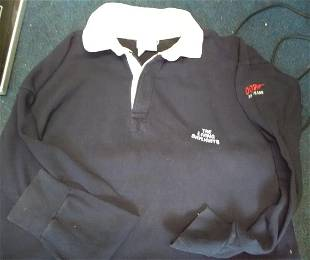 James Bond Living Daylights crew rugby shirt with logo