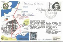 Four WW2 resistance VIPs signed on Dutch Paris Line RAF