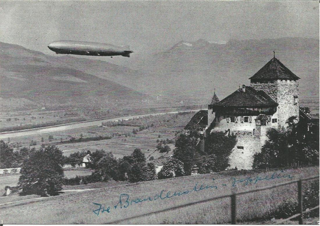 Isa von Brandenstein Zeppelin signed to front of LZ127