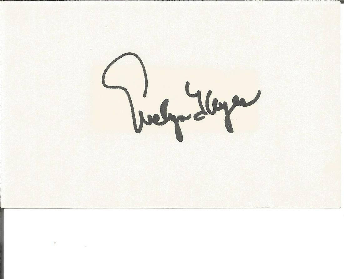Evelyn Keyes signed autograph album page. Good