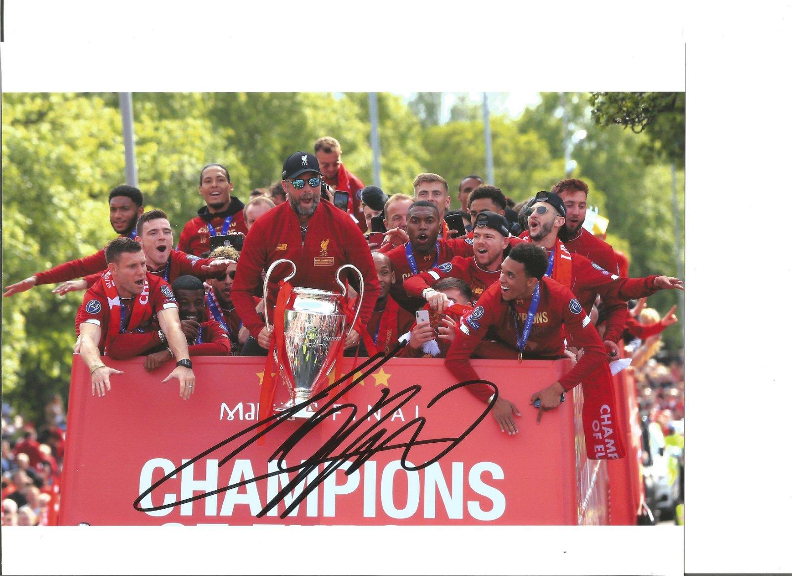 Jurgen Klopp Liverpool Signed 10 x 8 inch football