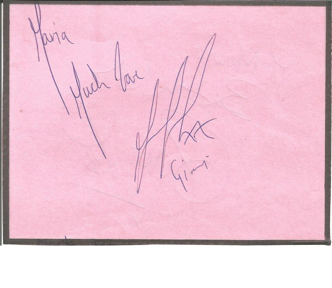 Marc Bannerman signed dedicated album page with Dave