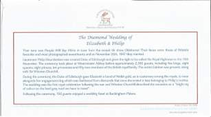 Diamond Wedding Anniversary unsigned FDC series 3 cover