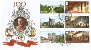 100 House of Windsor 1917 - 2017 unsigned FDC cover No