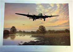 World War Two print 28x20 approx titled Lancaster Dawn