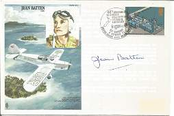 Jean Batten signed on her own Historic Aviators cover.