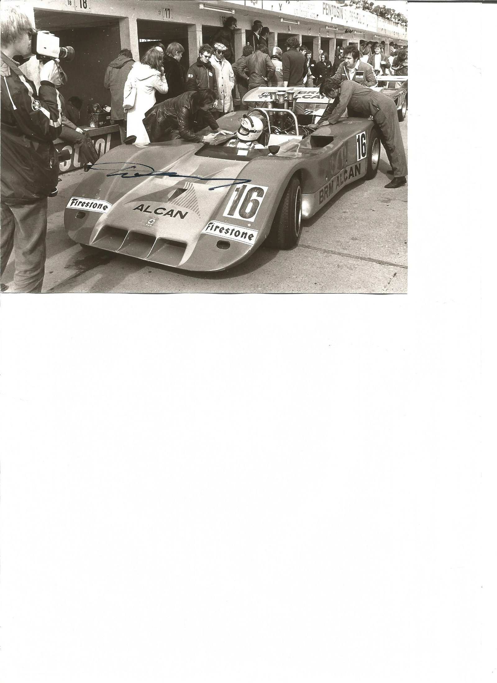 Motor Racing Howden Ganley signed 7x5 black and white