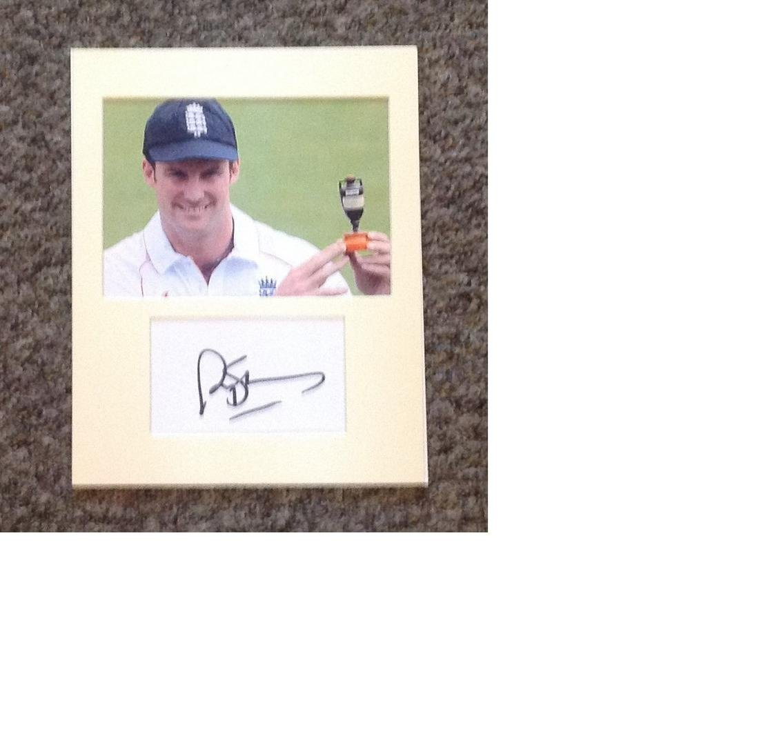Cricket Andrew Strauss signed 10 x 8 inch mounted