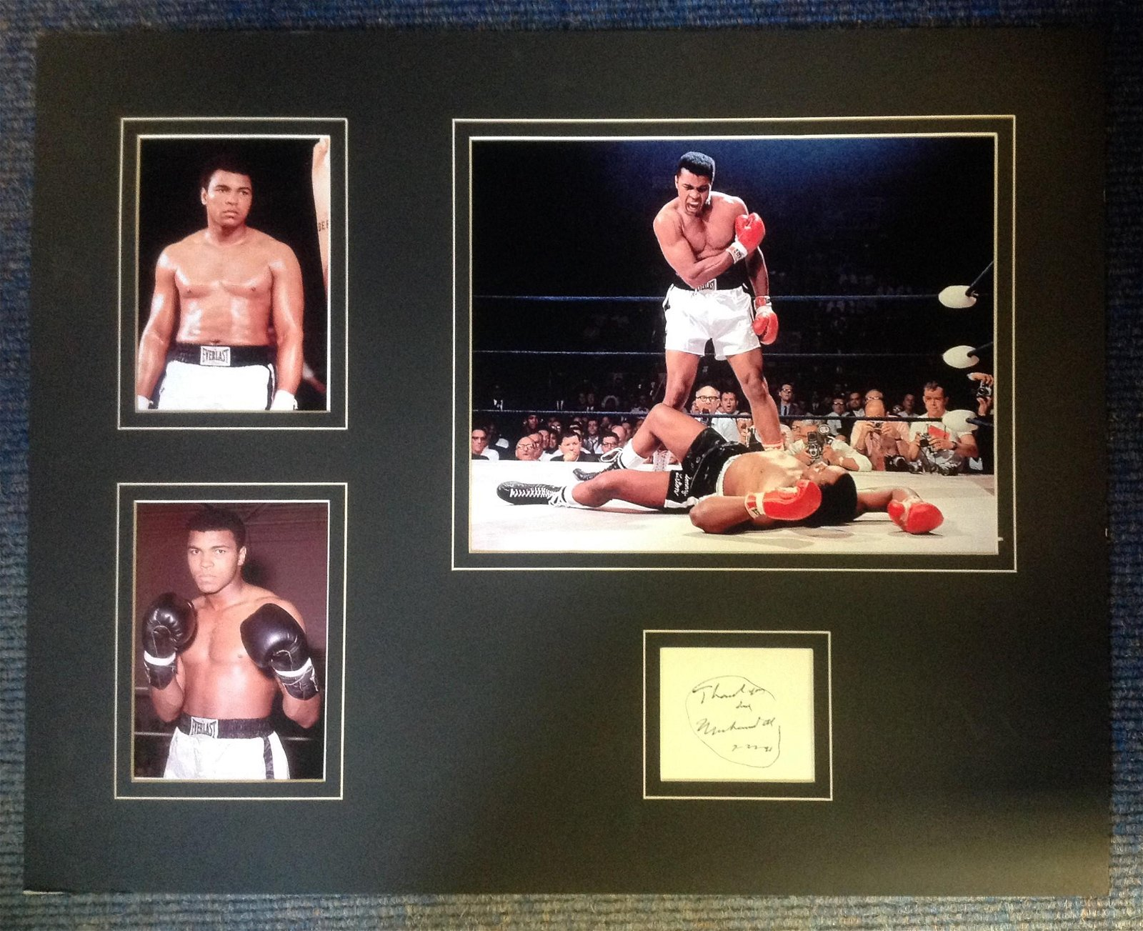 Boxing Muhammad Ali 18x22 mounted and framed signature