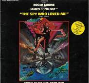 Multi signed The Spy who loved me 33rpm record sleeve
