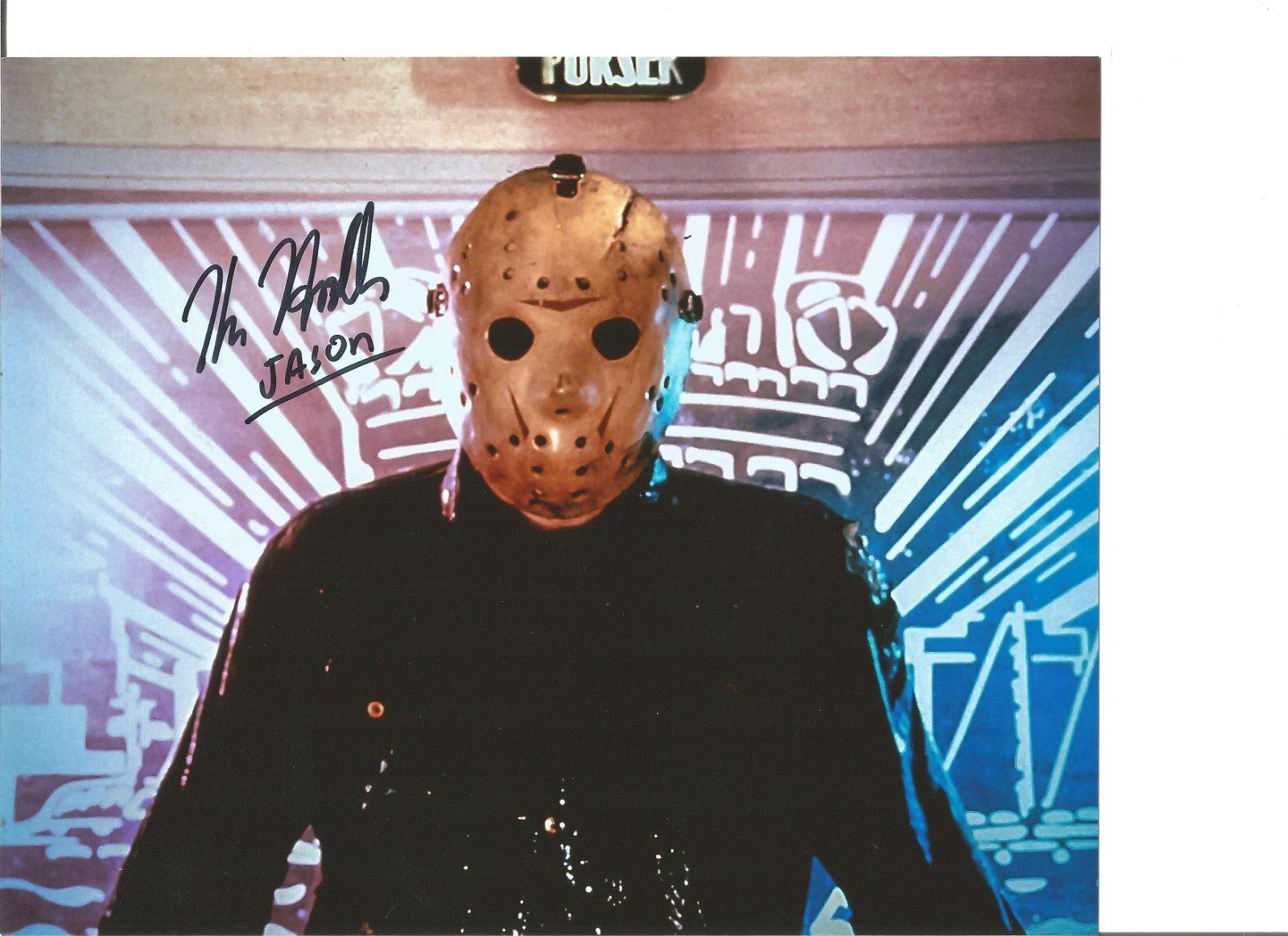 Blowout Sale! Kane Hodder Friday 13th hand-signed Jason