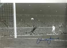 Mick Jones Football Autographed 12 x 8 photo, a superb