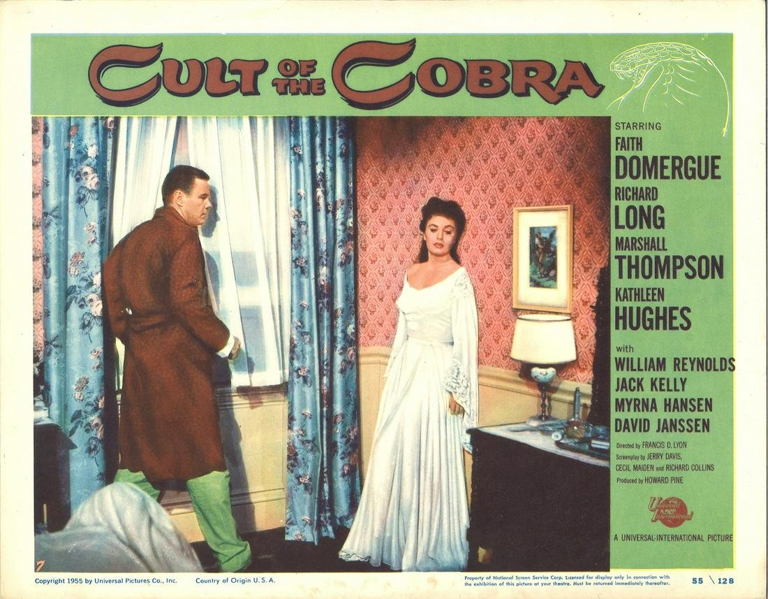 Cult of the Cobra lobby card from the 1955 American