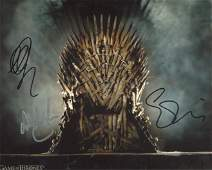 Game of Thrones cast signed 8x10 photo signed by THREE