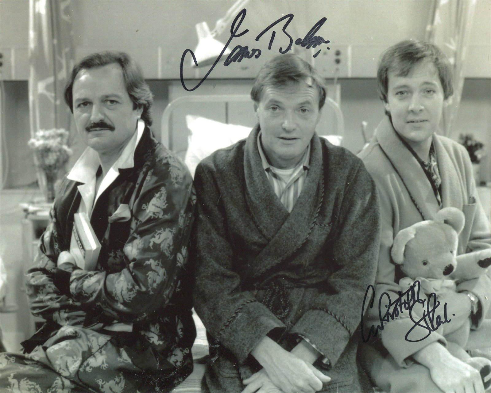 Only When I Laugh cast signed. 8x10 inch photo signed
