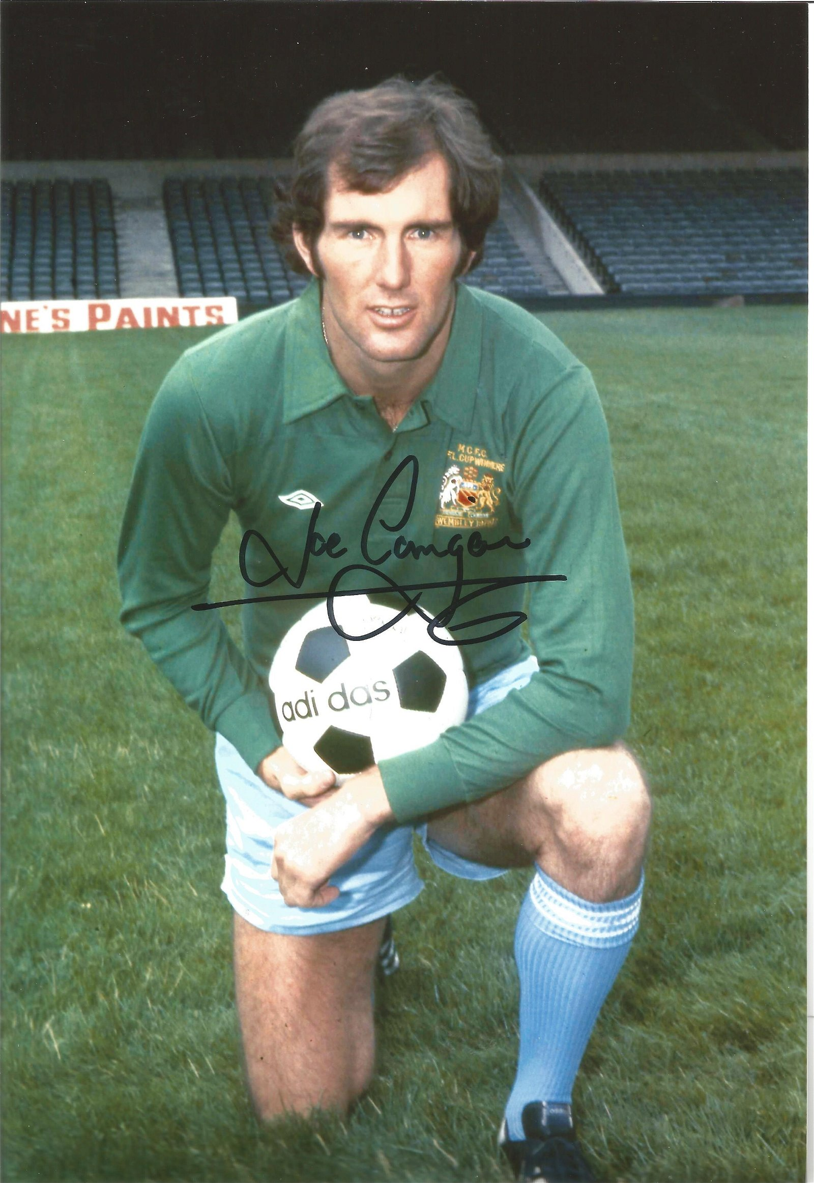 Joe Corrigan signed 12x8 colour football photo pictured