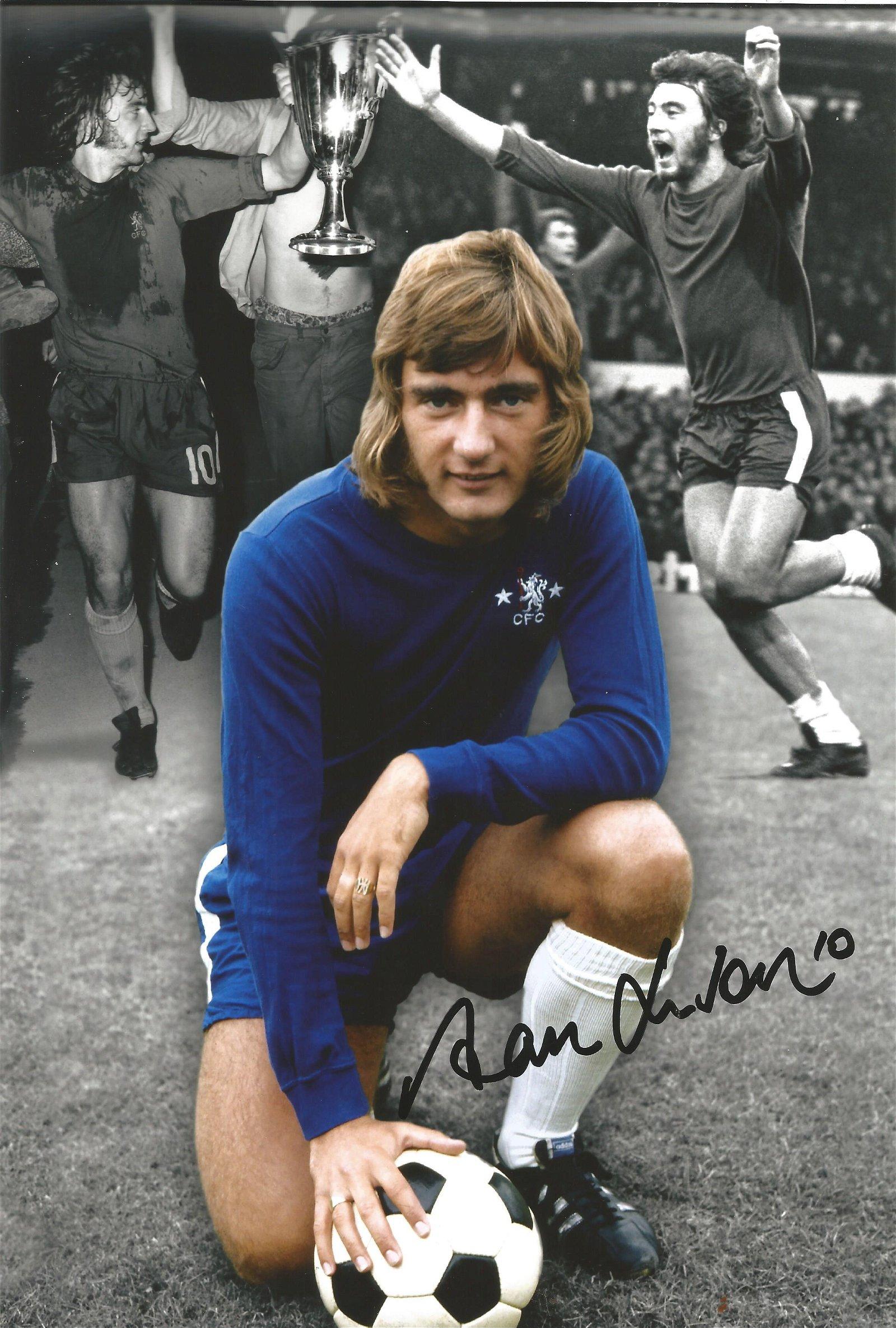 Alan Hudson Football Autographed 12 X 8 Photo, A Superb