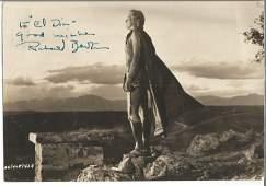 Richard Burton signed vintage sepia 8 x 6 inch photo