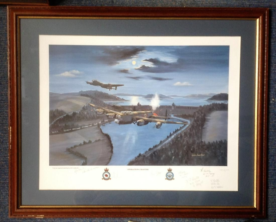 World War Two print 28x23 framed and mounted titled