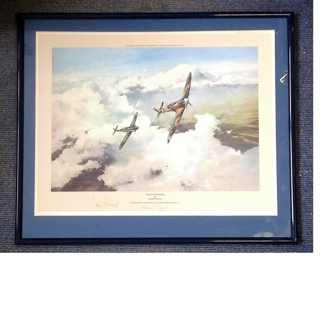 World War Two print 21x25 framed and mounted titled