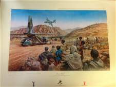 Military Print approx 32x24 RAF print titled Mercy