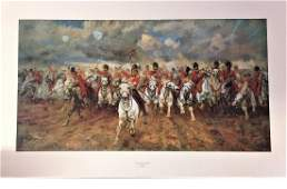 Historical Military print 21x33 approx titled Scotland