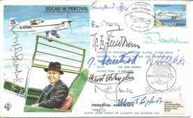 Luftwaffe aces WW2 multiple signed Edgar Percival Test