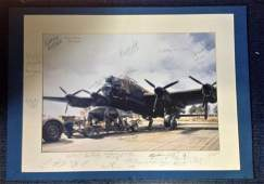 World War Two print copy of John Young painting