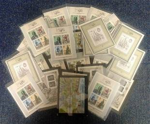 Assorted mint miniature stamp sheets Approx 50