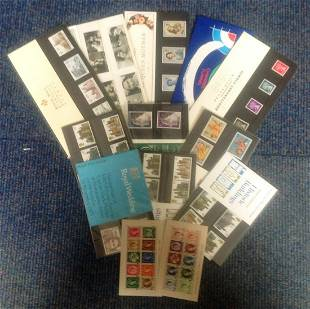 Assorted stamp presentation pack collection Includes
