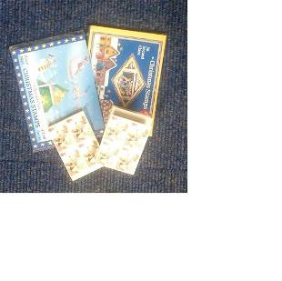 Christmas stamps mint books 112 stamps Face value
