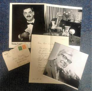 Black and white photo collection 2 photos 1 signed by
