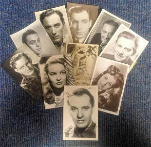 Vintage signed photo collection Contains 4 signed
