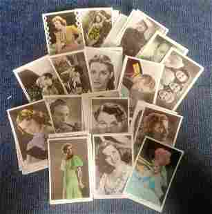 Vintage film star postcard collection 40 cards