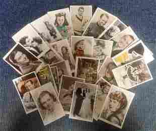 Vintage film star postcard collection 30 cards
