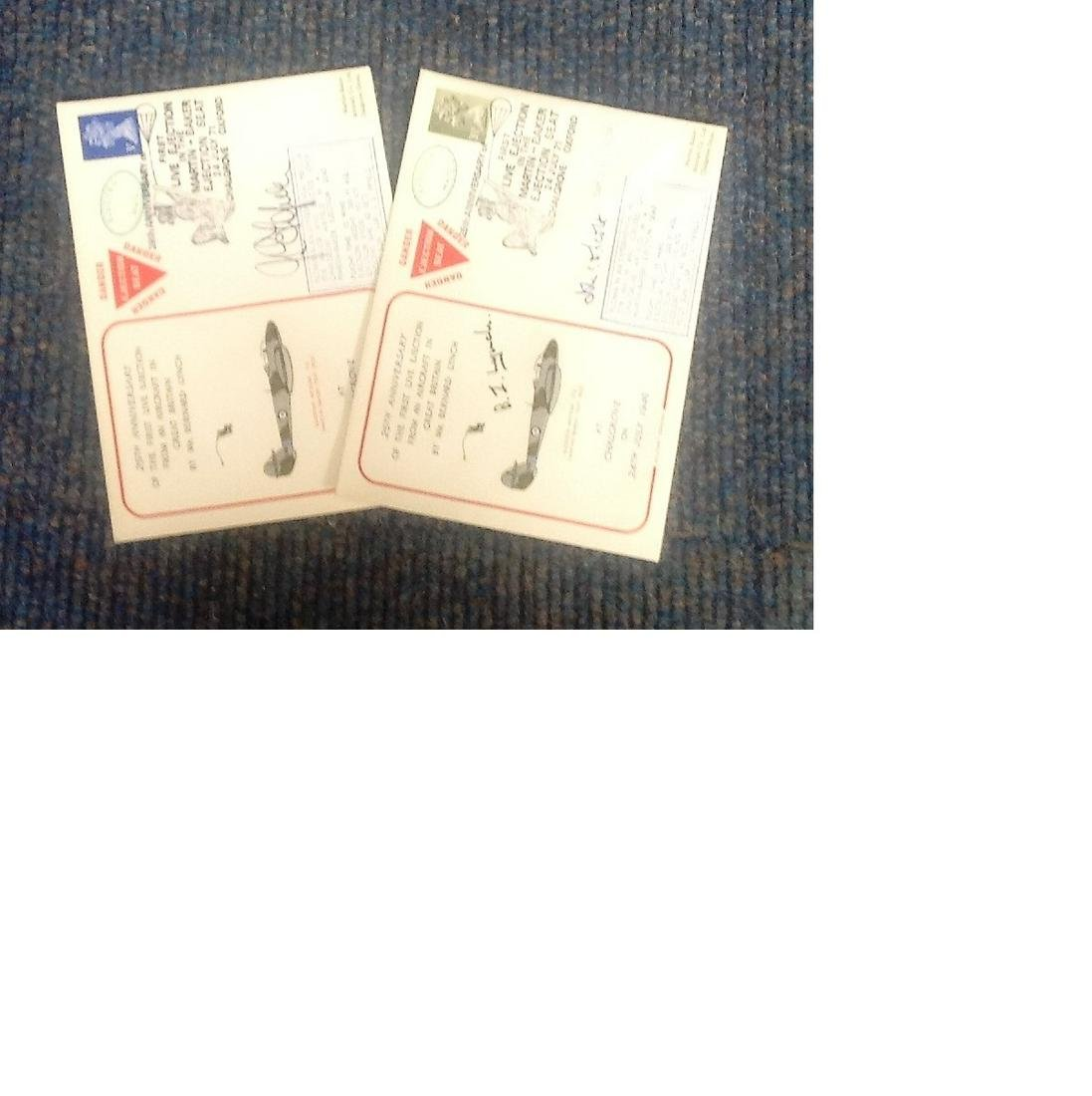 Ejection seat cover collection. 2 covers one signed by