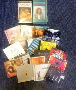 Music collection 19 signed items including Cd sleeves
