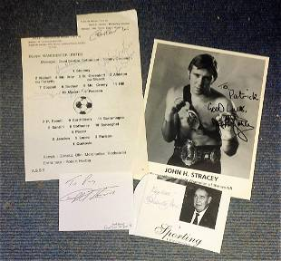Sport collection 4 items signed by some legendary names