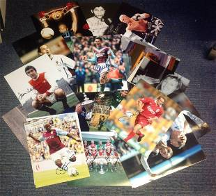 Sport collection 30 signed 12x8 colour photos from some