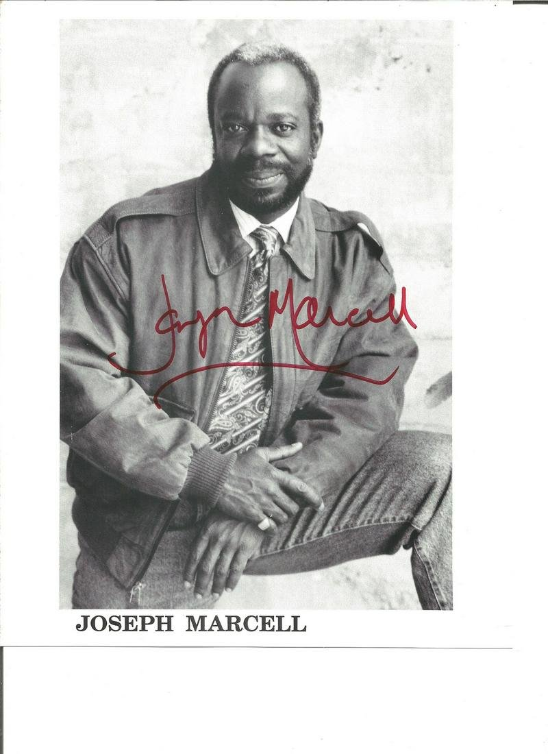 Joseph Marcell signed 10x8 black and white photo. actor
