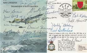 Dambusters Rare multiple signed Avro Lancaster bomber