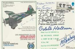 WW2 rare SOE Resistance multiple signed RAF Duke of