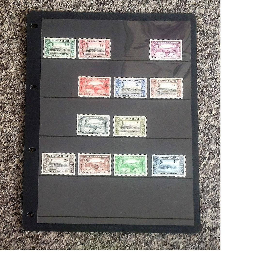 Sierra Leone mint and used stamp collection on stock