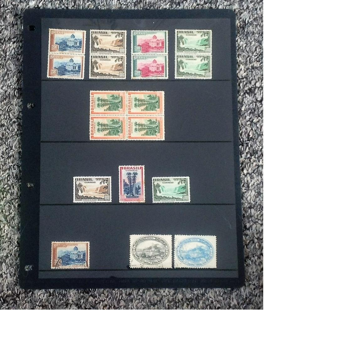 Brazil stamp collection on stock card. 18 stamps.