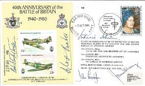 Battle of Britain top fighter aces signed 1980 40th ann