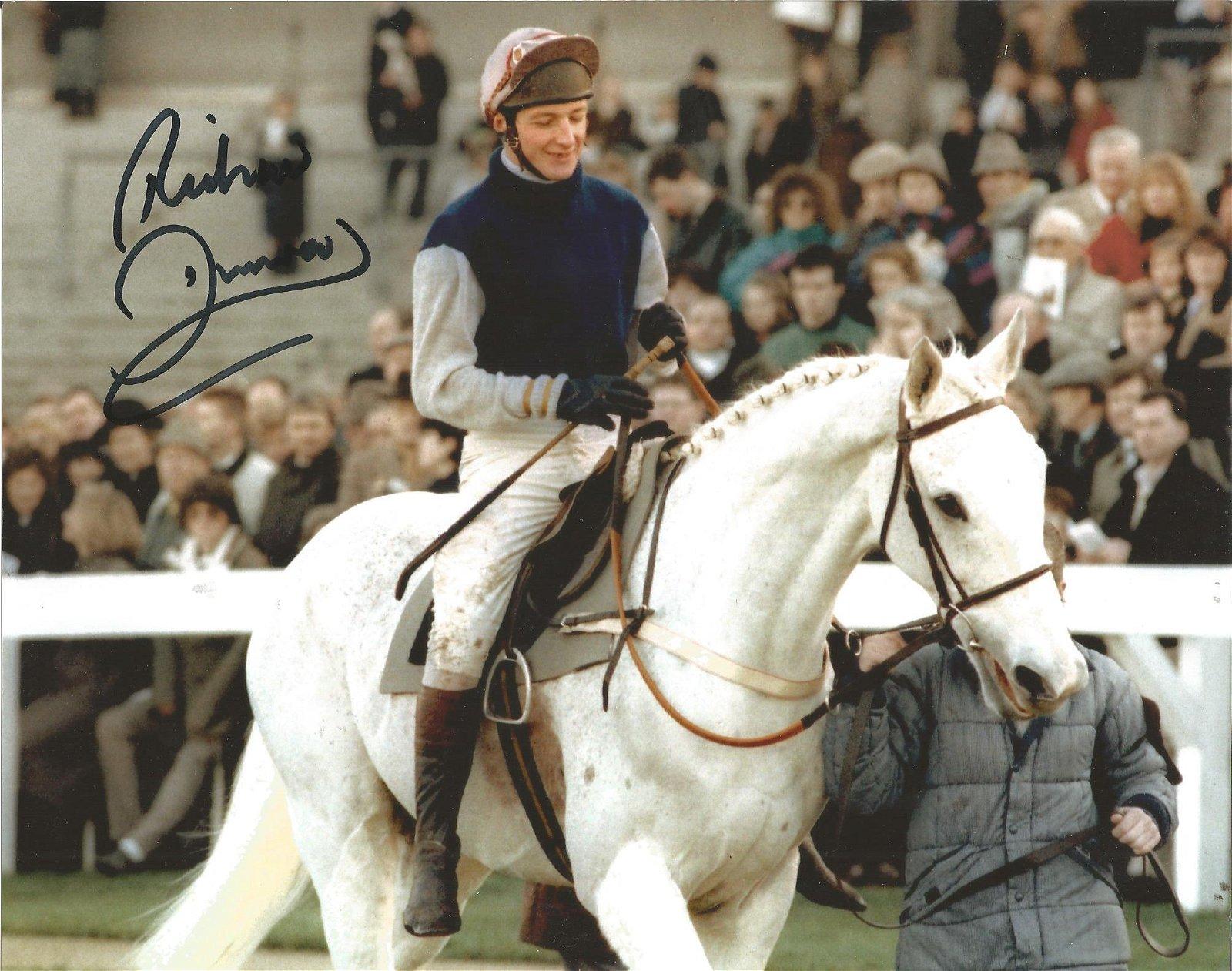 Jockey Richard Dunwoody signed 10x8 colour photo. Good