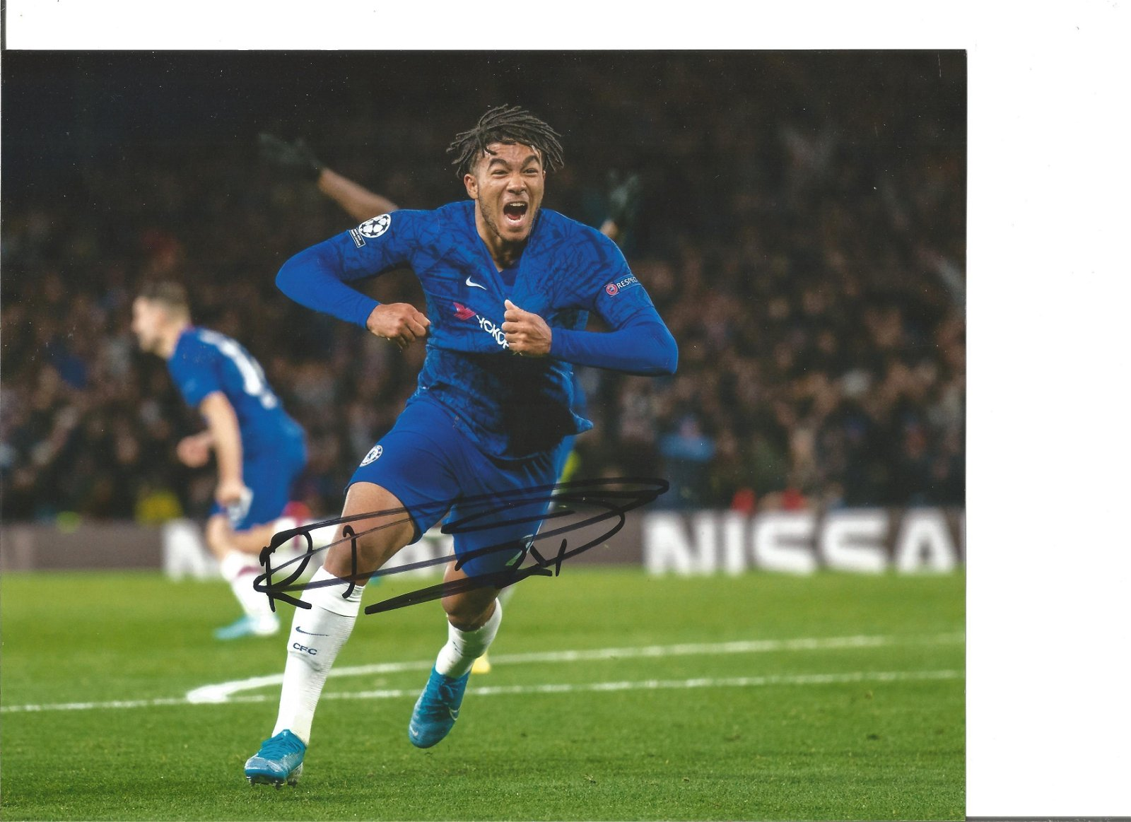 Reece James Signed Chelsea 8x10 Photo. Good Condition.