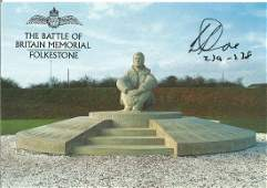 Battle of Britain Memorial Folkestone postcard signed